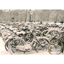 Wintertime bicycles