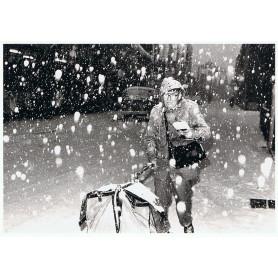 Postbode in de sneeuw