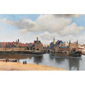 Johannes Vermeer - Gezicht op Delft