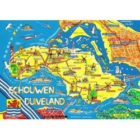 Map Zeeland (schouwen-duiveland)