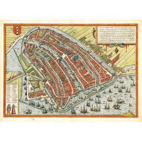 Kaart Amsterdam 1689