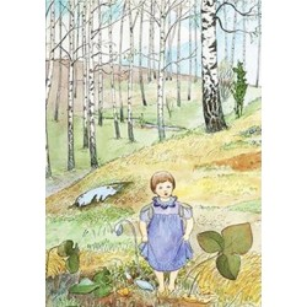 Elsa Beskow - meisje in het bos
