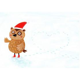 Uil in de sneeuw