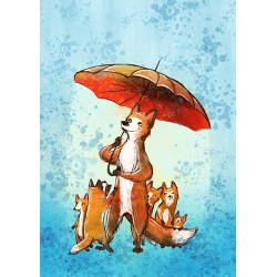 Veera Aro - Fox with umbrella
