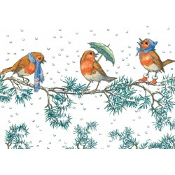 Molly Brett - Three robins