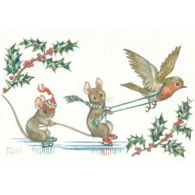 Molly Brett - Two mice skating