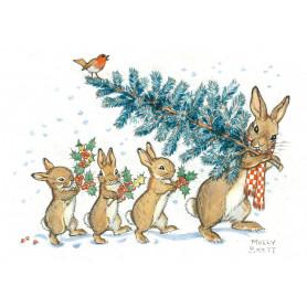 Molly Brett - Carrying a Christmas tree