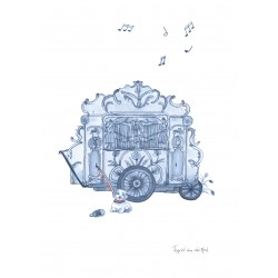 Fantasiebeestjes - Delftsblauw draaiorgel