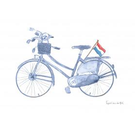 Fantasiebeestjes - Delftsblauwe fiets