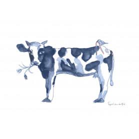 Fantasiebeestjes - Delftsblauw koe