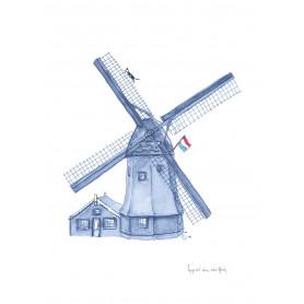 Fantasiebeestjes - Delftsblauw molen