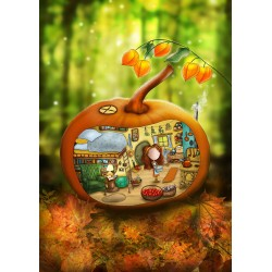 Ila Illustrations - Pumpkin cottage