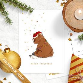 Studio Draak - Kerstlichtjes (goudfolie)
