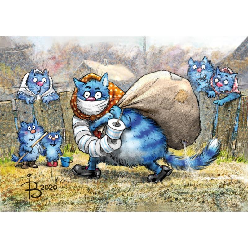 Rina Zeniuk Blue Cats - Quarantaine