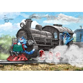 Rina Zeniuk Blue Cats - Train