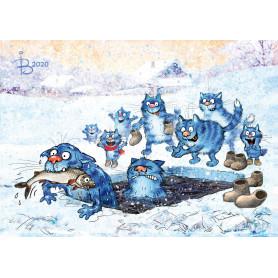 Rina Zeniuk Blue Cats - Ice fishing