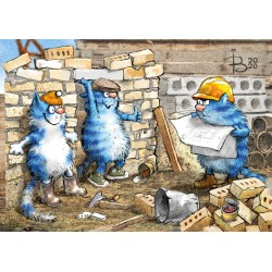 Rina Zeniuk Blue Cats - Construction work