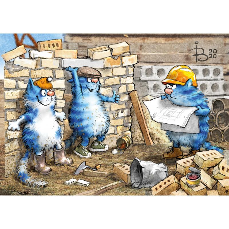 Rina Zeniuk Blue Cats - Construction work
