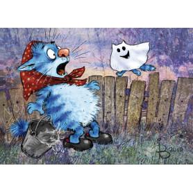 Rina Zeniuk Blue Cats - Little ghost