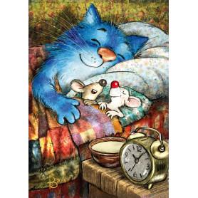 Rina Zeniuk Blue Cats - Good night