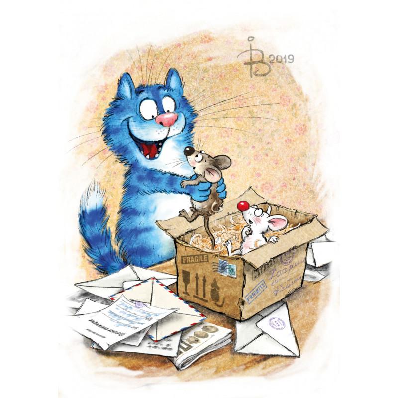 Rina Zeniuk Blue Cats -  Best gift