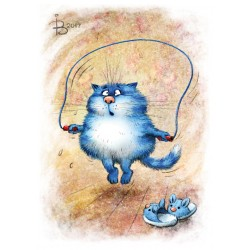 Rina Zeniuk Blue Cats -  Fatty
