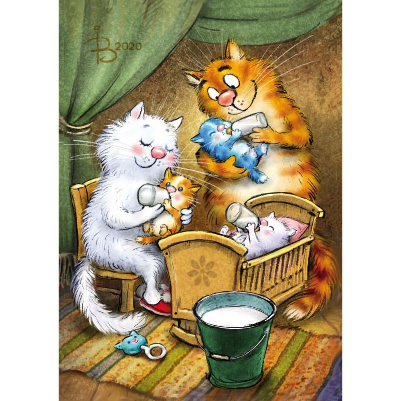 Rina Zeniuk Blue Cats -  Triplets