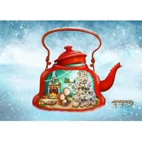 Ila Illustrations - The red Teapot