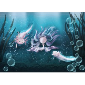 Ila Illustrations - Axolotl