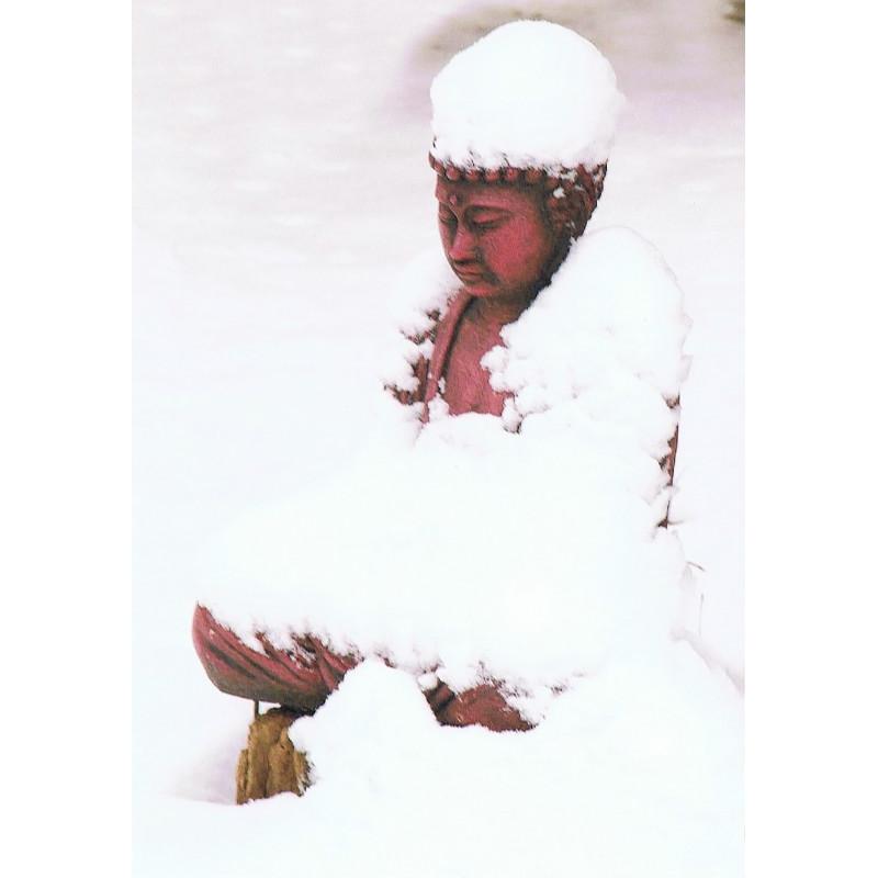 Boeddha in de sneeuw
