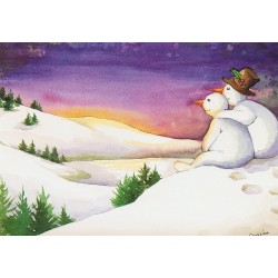 Romantische sneeuwpoppen