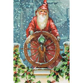 Santa aan roer
