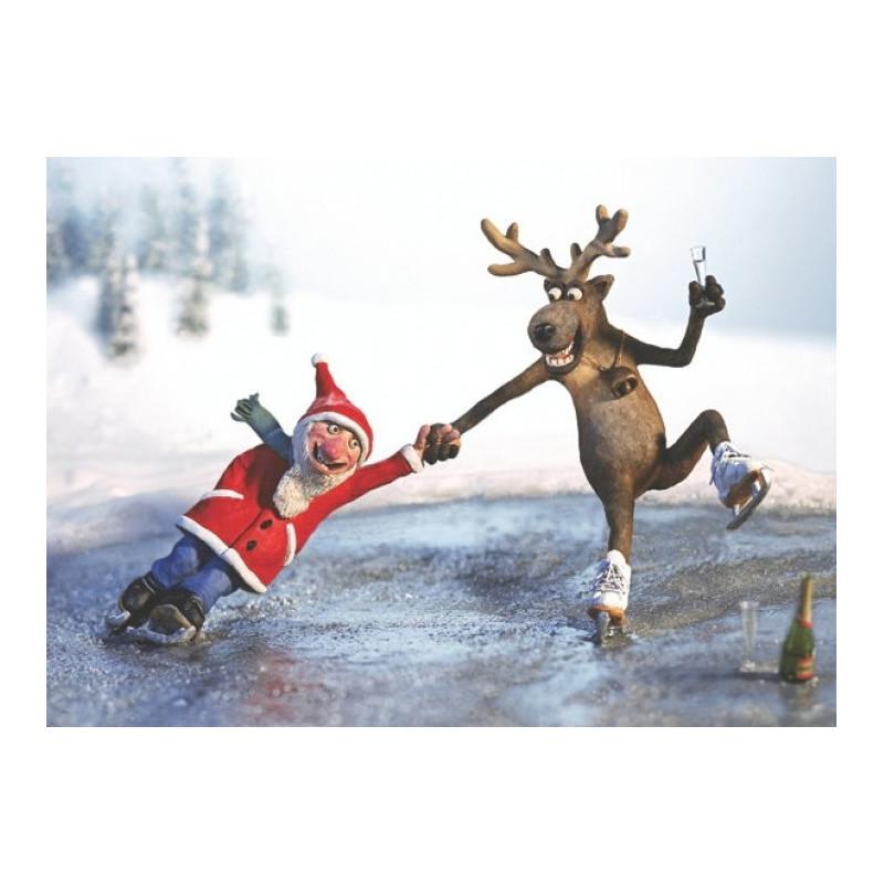 Skating Santa