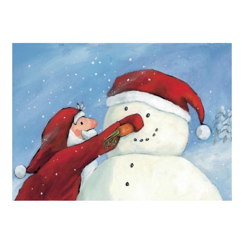 Kerst Sneeuwpop