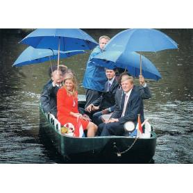 Koningshuis onder de paraplu