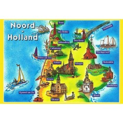 Map Noord Holland