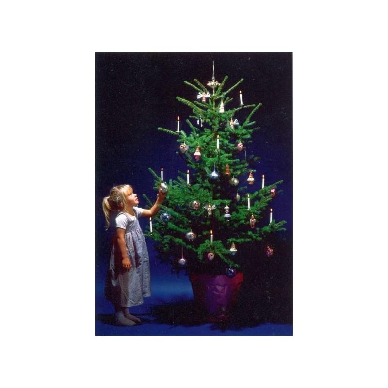 Meisje met kerstboom