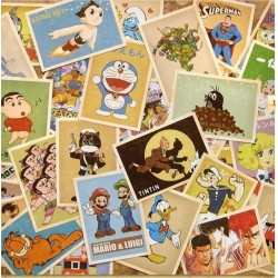 Vintage kaartenset Cartoon