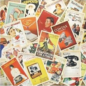 Vintage kaartenset Advertisment
