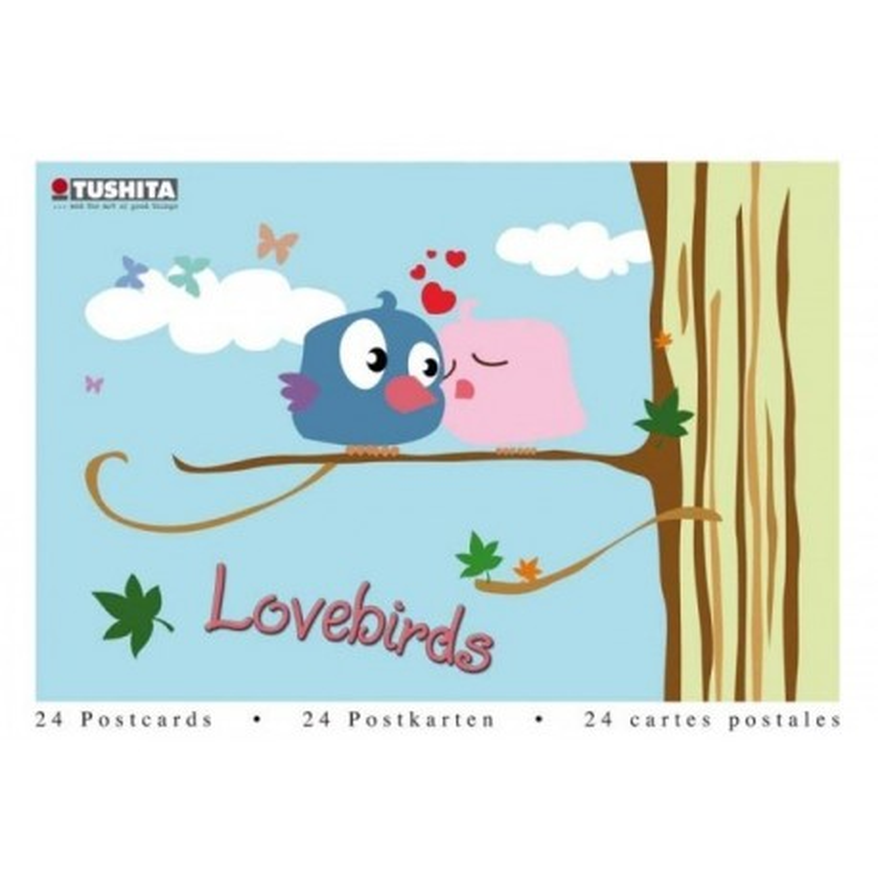 Postcardbook Lovebirds