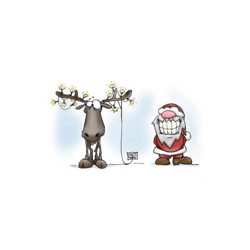 Santa & Eric - Christmas lights