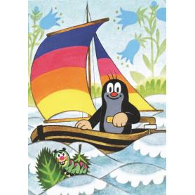 Krtek - in de zeilboot