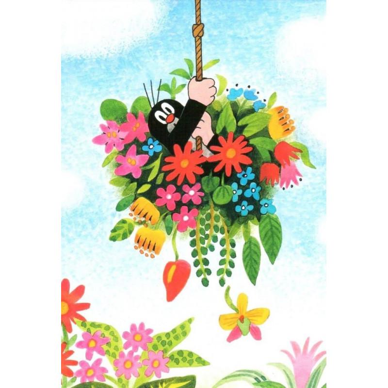 Krtek - in de bloemenmand