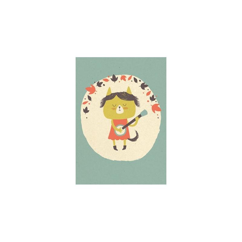 Paper and Cloth - Banjo Cat