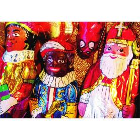 Chocolade Sinterklaas en Zwarte piet