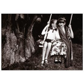 Girlfriends on a swing