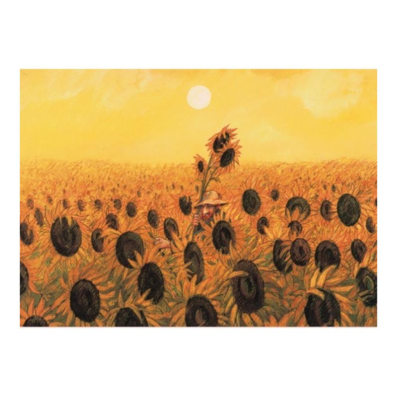 Vincent tussen de zonnebloemen