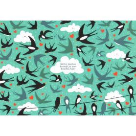 Zwaluw brengt een boodschap
