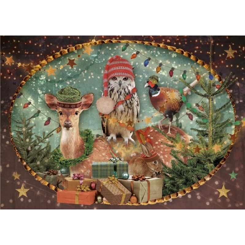 Gezelschap met kerst