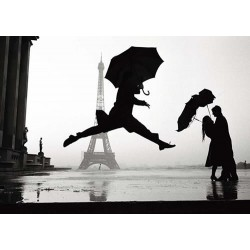Dancing with umbrella